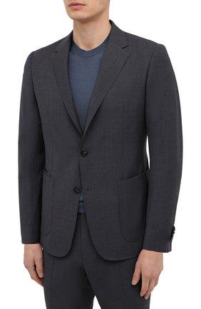 Мужской шерстяной костюм Z ZEGNA темно-серого цвета, арт. 924730/2X7YGW   Фото 2