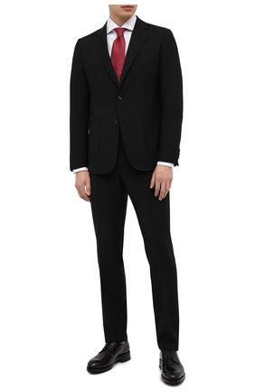 Мужской шерстяной костюм Z ZEGNA черного цвета, арт. 924727/2X7YGX   Фото 1 (Материал внешний: Шерсть; Рукава: Длинные; Стили: Классический; Материал подклада: Синтетический материал; Костюмы М: Однобортный)