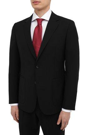 Мужской шерстяной костюм Z ZEGNA черного цвета, арт. 924727/2X7YGX   Фото 2 (Материал внешний: Шерсть; Рукава: Длинные; Стили: Классический; Материал подклада: Синтетический материал; Костюмы М: Однобортный)