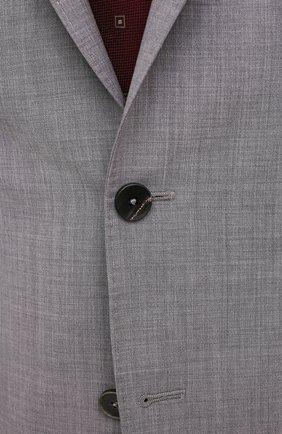 Мужской шерстяной костюм Z ZEGNA светло-серого цвета, арт. 922882/2X7YGX   Фото 6 (Материал внешний: Шерсть; Рукава: Длинные; Костюмы М: Однобортный; Стили: Классический; Материал подклада: Синтетический материал)