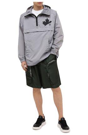 Мужские шорты DSQUARED2 темно-зеленого цвета, арт. S74MU0631/S53582 | Фото 2