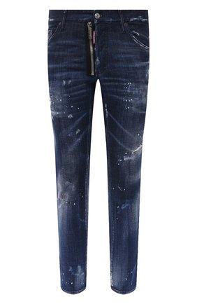 Мужские джинсы DSQUARED2 темно-синего цвета, арт. S74LB0836/S30342   Фото 1