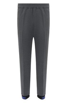 Мужские джоггеры DSQUARED2 темно-серого цвета, арт. S74KB0487/S53632 | Фото 1 (Длина (брюки, джинсы): Укороченные; Силуэт М (брюки): Джоггеры; Стили: Гранж; Материал подклада: Вискоза; Материал внешний: Шерсть, Синтетический материал)