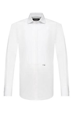 Мужская хлопковая сорочка DSQUARED2 белого цвета, арт. S74DM0500/S42381   Фото 1