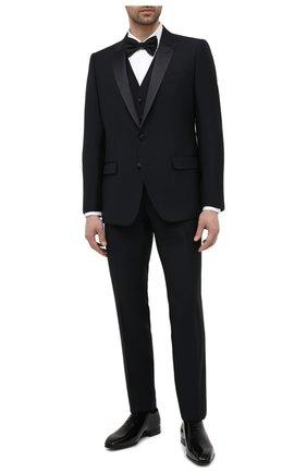 Мужская хлопковая сорочка DSQUARED2 белого цвета, арт. S74DM0500/S42381   Фото 2