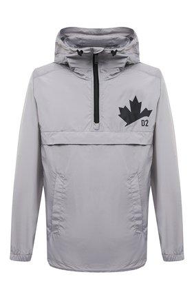 Мужская анорак DSQUARED2 серого цвета, арт. S74AM1162/S53817 | Фото 1 (Кросс-КТ: Ветровка, Куртка; Материал подклада: Синтетический материал; Рукава: Длинные; Материал внешний: Синтетический материал; Стили: Гранж; Длина (верхняя одежда): До середины бедра)