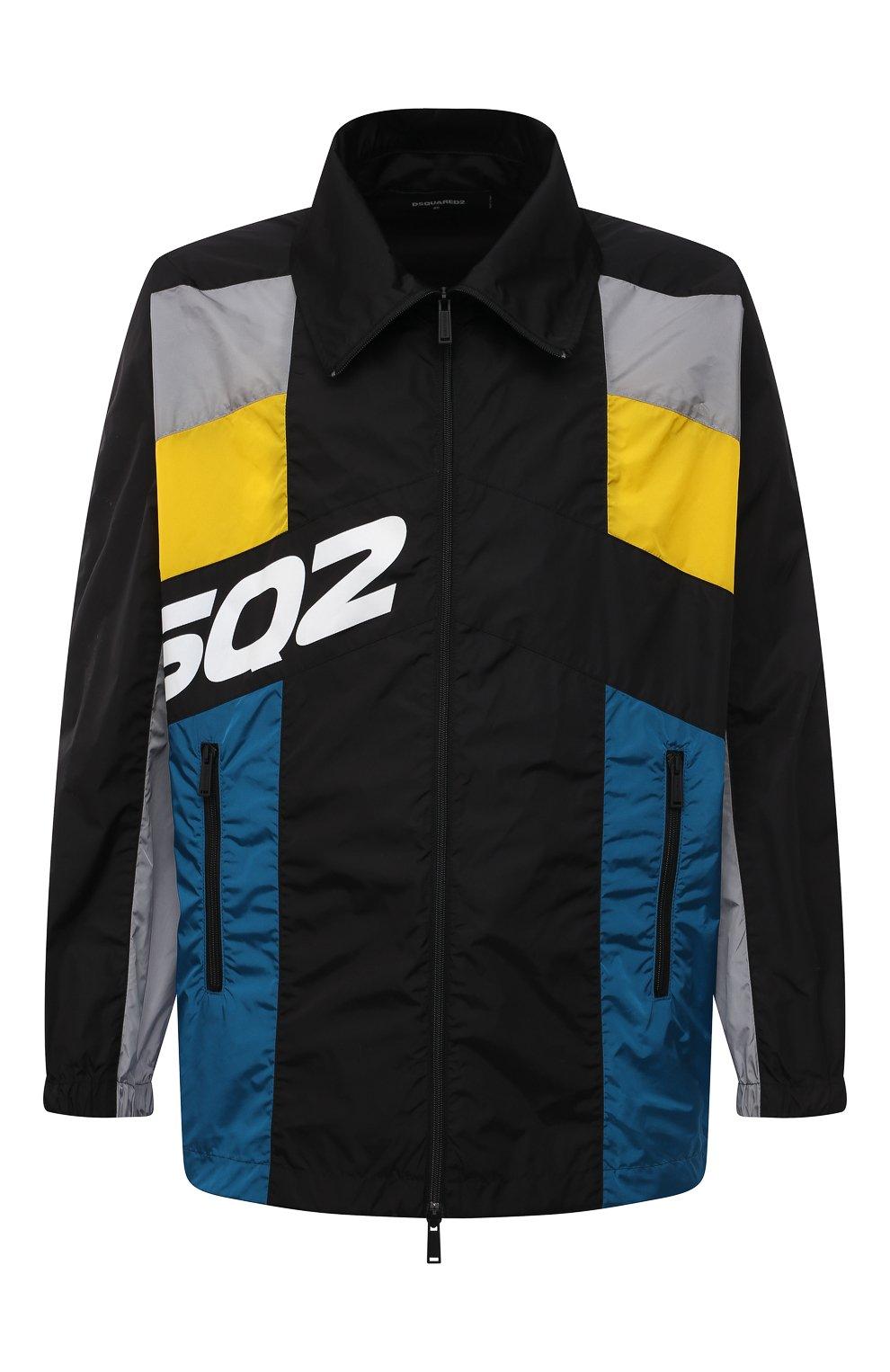 Мужская куртка DSQUARED2 разноцветного цвета, арт. S74AM1132/S49197 | Фото 1 (Кросс-КТ: Куртка, Ветровка; Рукава: Длинные; Длина (верхняя одежда): До середины бедра; Материал внешний: Синтетический материал; Стили: Гранж, Спорт-шик)