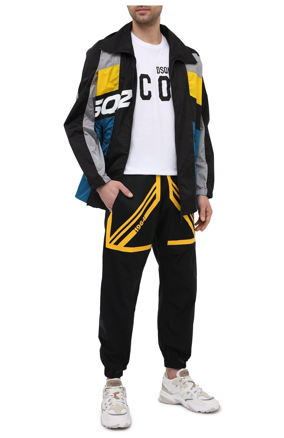 Мужская куртка DSQUARED2 разноцветного цвета, арт. S74AM1132/S49197 | Фото 2 (Кросс-КТ: Куртка, Ветровка; Рукава: Длинные; Длина (верхняя одежда): До середины бедра; Материал внешний: Синтетический материал; Стили: Гранж, Спорт-шик)