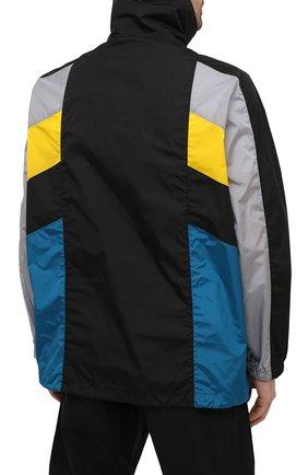 Мужская куртка DSQUARED2 разноцветного цвета, арт. S74AM1132/S49197 | Фото 4 (Кросс-КТ: Куртка, Ветровка; Рукава: Длинные; Длина (верхняя одежда): До середины бедра; Материал внешний: Синтетический материал; Стили: Гранж, Спорт-шик)