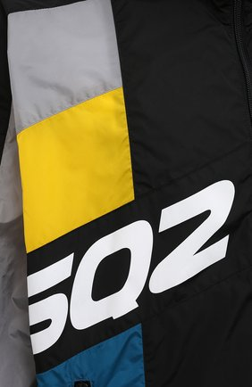 Мужская куртка DSQUARED2 разноцветного цвета, арт. S74AM1132/S49197 | Фото 5 (Кросс-КТ: Куртка, Ветровка; Рукава: Длинные; Длина (верхняя одежда): До середины бедра; Материал внешний: Синтетический материал; Стили: Гранж, Спорт-шик)