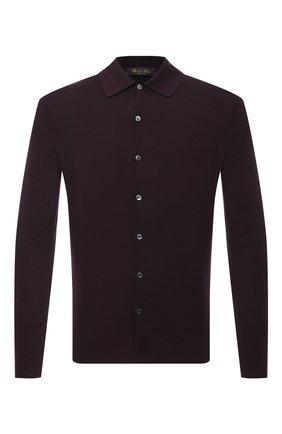 Мужская шерстяная рубашка LORO PIANA темно-коричневого цвета, арт. FAI4542 | Фото 1
