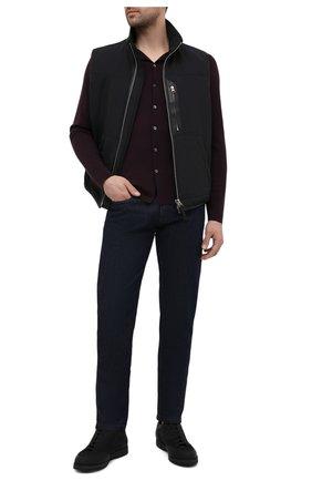 Мужская шерстяная рубашка LORO PIANA темно-коричневого цвета, арт. FAI4542 | Фото 2