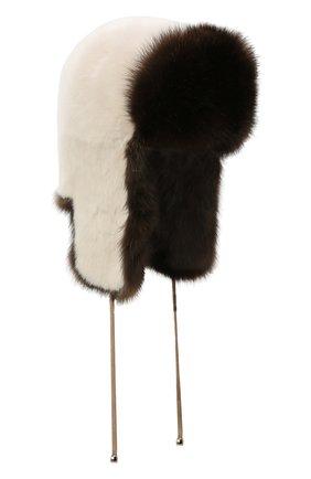 Женская шапка-ушанка из меха норки и соболя KUSSENKOVV разноцветного цвета, арт. 91203504093   Фото 1
