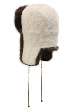 Женская шапка-ушанка из меха норки и соболя KUSSENKOVV разноцветного цвета, арт. 91203504093   Фото 2