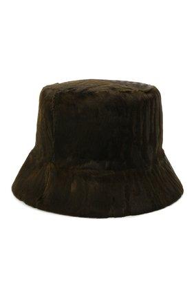 Женская шляпа из меха каракульчи KUSSENKOVV коричневого цвета, арт. 157100061042   Фото 1 (Материал: Натуральный мех)