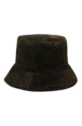 Женская шляпа из меха каракульчи KUSSENKOVV коричневого цвета, арт. 157100061042   Фото 2 (Материал: Натуральный мех)
