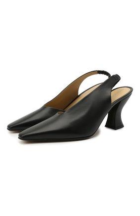 Женские кожаные туфли BOTTEGA VENETA черного цвета, арт. 652474/VBSD0 | Фото 1
