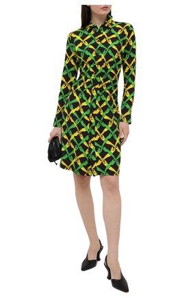 Женские кожаные туфли BOTTEGA VENETA черного цвета, арт. 652474/VBSD0 | Фото 2