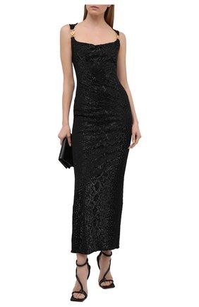 Женское платье из вискозы VERSACE черного цвета, арт. A88470/A223485 | Фото 2
