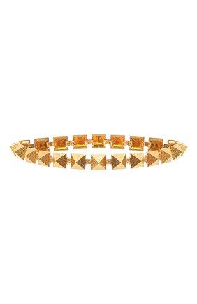 Женский пояс  VALENTINO золотого цвета, арт. VW2T0V70/IDS | Фото 1 (Кросс-КТ: Тонкие)