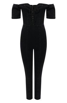 Женский джинсовый комбинезон 3X1 черного цвета, арт. WR0060986/DARK BLACK | Фото 1
