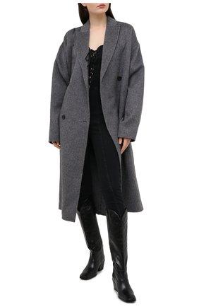 Женский джинсовый комбинезон 3X1 черного цвета, арт. WR0060986/DARK BLACK | Фото 2