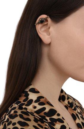 Женские кафф ALEXANDER MCQUEEN черного цвета, арт. 650507/J160Z | Фото 2