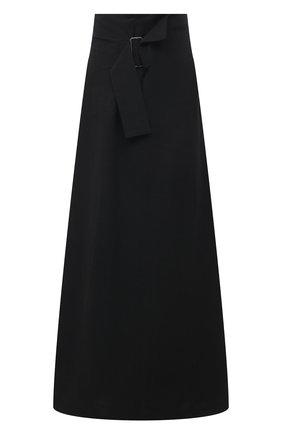 Женская юбка из льна и хлопка Y`S черного цвета, арт. YT-S40-330   Фото 1