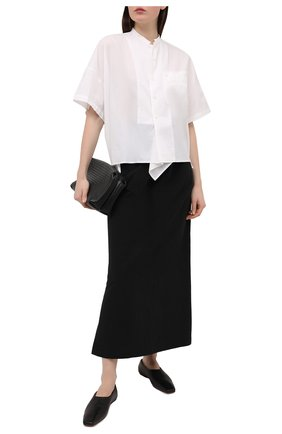 Женская юбка из льна и хлопка Y`S черного цвета, арт. YT-S40-330 | Фото 2