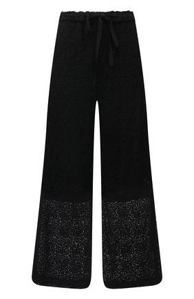 Женские хлопковые брюки Y`S черного цвета, арт. YT-P44-034 | Фото 1