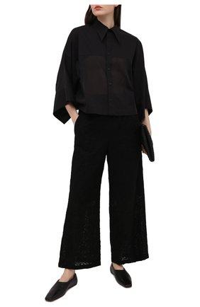 Женские хлопковые брюки Y`S черного цвета, арт. YT-P44-034 | Фото 2