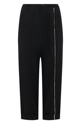 Женские шерстяные брюки Y`S черного цвета, арт. YT-P01-100 | Фото 1