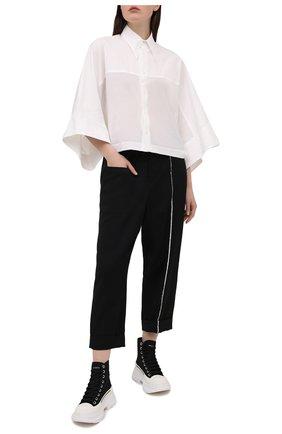 Женские шерстяные брюки Y`S черного цвета, арт. YT-P01-100 | Фото 2
