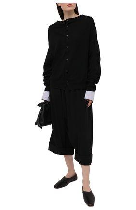Женский кардиган из хлопка и вискозы Y`S черного цвета, арт. YT-K73-049 | Фото 2