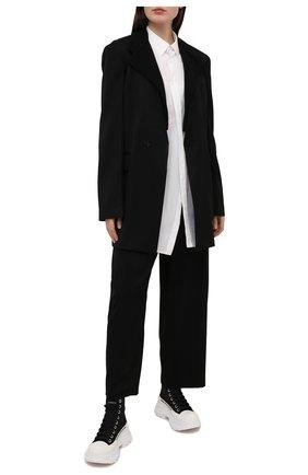 Женский шерстяной жакет Y`S черного цвета, арт. YT-J40-130 | Фото 2