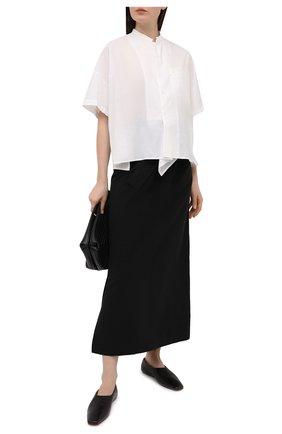 Женская хлопковая рубашка Y`S белого цвета, арт. YT-B03-030   Фото 2