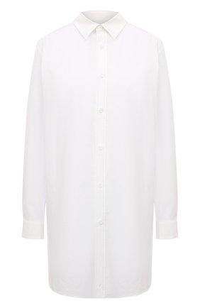 Женская хлопковая рубашка Y`S белого цвета, арт. YT-B01-030   Фото 1