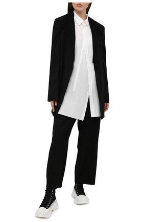 Женская хлопковая рубашка Y`S белого цвета, арт. YT-B01-030   Фото 2