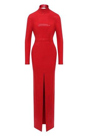 Женское платье с пайетками SOLACE красного цвета, арт. 0S29019 | Фото 1