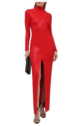 Женское платье с пайетками SOLACE красного цвета, арт. 0S29019 | Фото 2