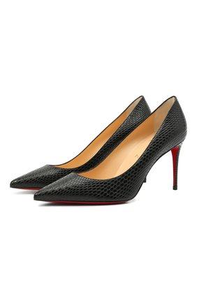 Женские кожаные туфли kate 85 CHRISTIAN LOUBOUTIN черного цвета, арт. 3200650/KATE 85 | Фото 1