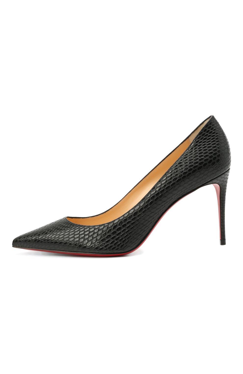 Женские кожаные туфли kate 85 CHRISTIAN LOUBOUTIN черного цвета, арт. 3200650/KATE 85 | Фото 3
