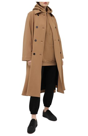 Женские кожаные кеды vieira CHRISTIAN LOUBOUTIN черного цвета, арт. 3200165/VIEIRA FLAT   Фото 2