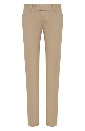 Женские хлопковые брюки DSQUARED2 бежевого цвета, арт. S75KB0187/S39021 | Фото 1