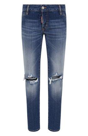 Женские джинсы DSQUARED2 темно-синего цвета, арт. S75LB0497/S30342 | Фото 1
