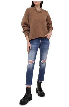 Женские джинсы DSQUARED2 темно-синего цвета, арт. S75LB0497/S30342 | Фото 2