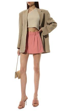 Женские шорты ALICE + OLIVIA розового цвета, арт. CL000202601   Фото 2 (Материал внешний: Синтетический материал; Стили: Романтичный; Длина Ж (юбки, платья, шорты): Мини; Женское Кросс-КТ: Шорты-одежда)