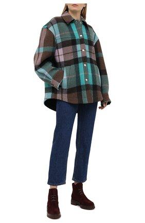 Женские замшевые ботинки martis GIANVITO ROSSI бордового цвета, арт. G73364.20G0M.SFURYRY | Фото 2