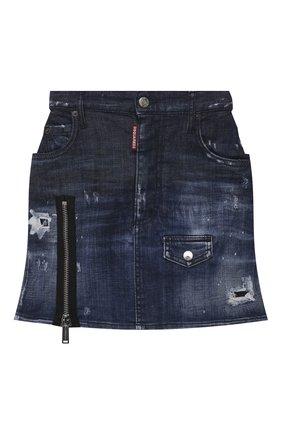 Женская джинсовая юбка DSQUARED2 синего цвета, арт. S75MA0767/S30342   Фото 1