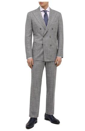 Мужские кожаные оксфорды BARRETT синего цвета, арт. B112U032.4/CERV0 ASP0RTABILE | Фото 2